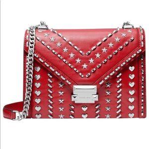 Michael Kors Whitney Studded Large Shoulder Bag